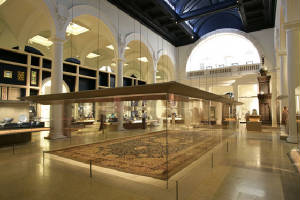 Ardabil Rug in V&A Show Case London
